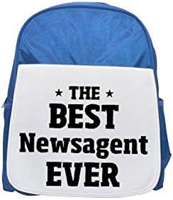 THE BEST Newsagent EVER printed kid's Bleu  backpack, Cute backpacks, cute small backpacks, cute Noir  backpack, cool Noir  backpack, fashion backpacks, large fashion backpacks, Noir  fashion backpack | Bonne Conception Qualité