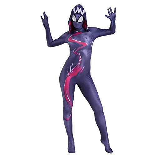 Frau Venom Spiderman Cosplay Kostüm Schwarze Witwe Kostüm Film Cosplay Party Cosplay Kostüm Fasching Weihnachten Halloween Bodysuit,Adult-XL