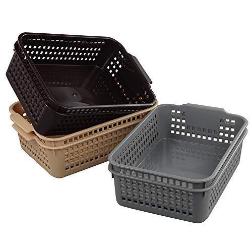 Obston Kunststoffkorb-Set, braun, 3-teilig - Storage-systeme Klassenzimmer