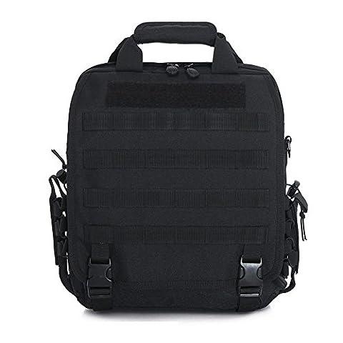 aiyuda hommes de Police Utility EDC tactique Molle sac à dos d'Assaut Militaire Camouflage Sac à dos pour ordinateur portable compact pour rangement Messenger noir Noir taille unique
