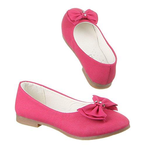 Kinder Schuhe, A8-1, BALLERINAS Pink