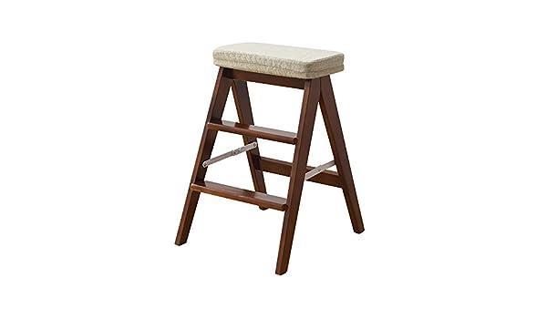 Wssf sgabelli a 3 gradini pieghevoli sgabello a pioli in legno
