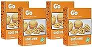 GO Organic Light Broken Walnuts (Without Shell) 1Kg (250gm x 4)…