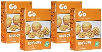GO Organic Light Broken Walnuts (Akhrot) 1Kg (250gm x 4)-Without Shell.