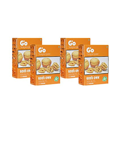 GO Organic Light Broken Walnuts (Akhrot) 1Kg (250gm x 4)-Without...