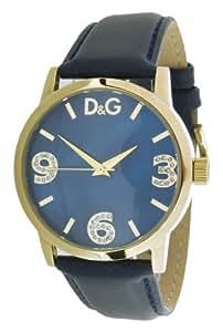 D&G Dolce&Gabbana - DW0690 - Montre Femme - Quartz Analogique - Bracelet Cuir Bleu