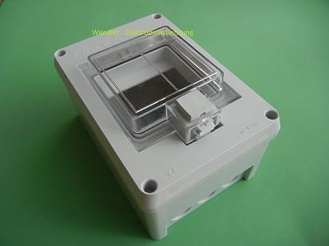 F-tronic Aufputz - Feuchtraum - Kleinverteiler IP55 1reihig , 4 Module