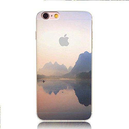 MOMDAD iPhone 6S Etui iPhone 6 6S Coque TPU Ultra-Slim pour iPhone 6 6S Souple Housse Protection Flexible Soft Case Cas Couverture pour iPhone 6 6S 4.7 Pouces Absorption de Choc Bumper et Anti-Scratch paysage Coque-2