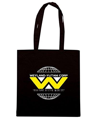 T-Shirtshock - Borsa Shopping TGAM0087 Weyland Yutani Corp Nero