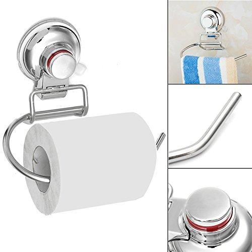 Edelstahl Saugnapf WC Toilettenpapierhalter Gewebe Halterung Rack (Tragen Wc-papierhalter)