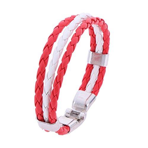 National Flag Leder Armband für Männer Frauen Weave Geflochtene Handgemachte Seil Armband Schmuck (Kanada) ()