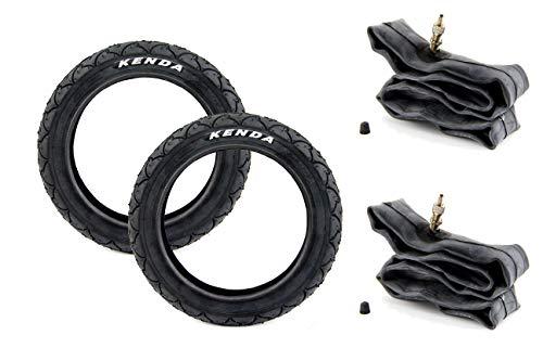 BISOMO Set: 2 Reifen 47-203 (12 x 1.75) + 2X Schlauch für Kinderwagen -