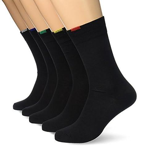 Dim Ecodim Coton, Chaussettes, Lot de 5 paires, Homme, Noir,