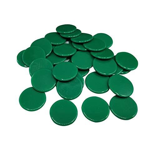 Seasons Shop 100 Stück Bingo Chips Zähler transparent Markierungszähler Kunststoff 19 mm zum Zählen oder Marken 8 -