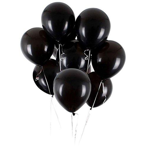 Vercrown 100 pz palloncini nero per party, compleanni, matrimoni, anniversario,natale e nuovi anni decorazione 12 pollici 2.8g latice palloncini