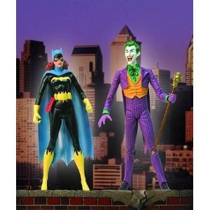 Classic Silver Age Batgirl & Joker Deluxe Action Figure Set by DC Direct