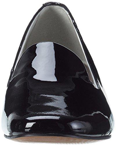 Be Natural Damen 24204 Slipper Schwarz (BLACK PATENT 18)