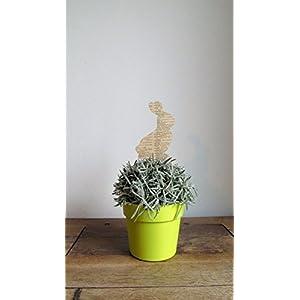 5er-Set Blumenstecker Osterhase angebracht auf einem Holzspieß//Frühlingsdeko//Fensterdeko//Osterdeko//Ostern//Deko für…