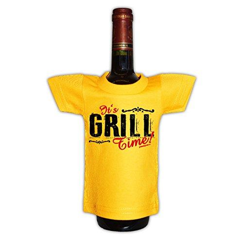 Griller T-Shirt Knight of the Holy Grill BBQ Shirt geil bedruckt Geschenk Set mit Mini Flaschenshirt Schwarz