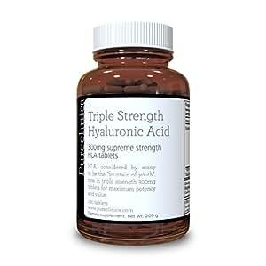 Comprimés Force Triple Acide Hyaluronique 300mg 3 mois d'approvisionnement 180 Comprimes