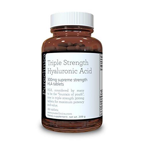 Ácido Hialurónico 300mg x 180 tabletas (3 meses de suministro). Triple Fuerza ácido hialurónico. 300{1f77a2e7a49bc06fccf9b0f462d50be7fcfb80b906d7d91a374940f2560b3162} más fuerte que cualquier otra tableta de ácido hialurónico
