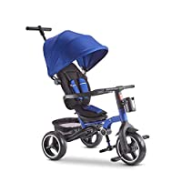 GYF Child Trike Baby Bike Trike For 2 Year Old Strollers For Kids Folding Sun Canopy Fit From 6 Months To 6 Years Walker For Kids Blue Red Gray ( Color : Blue )