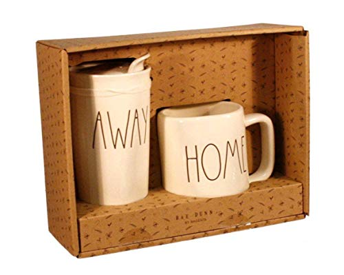 RAE Dunn Home und Away Travel Tumbler mit Deckel Kaffee Tasse Geschenk-Set -