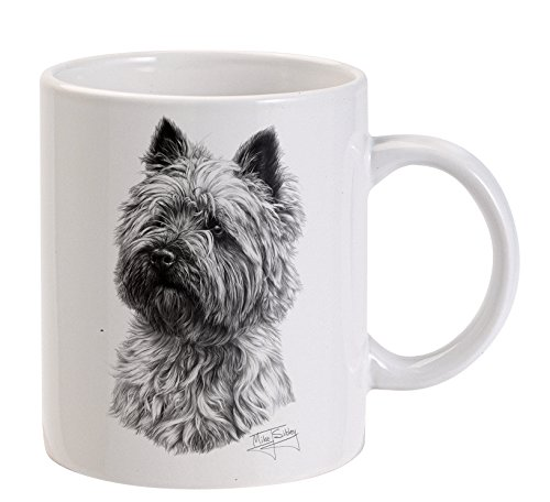 Mike Sibley Cairn terrier Dog bianco tazza - Cane K9 Rescue