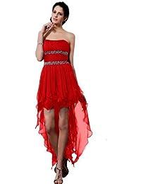 Sunvary tira en el tobillo y de costura para vestidos con sin tirantes moda vestido de