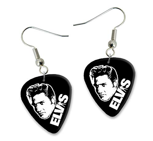 Elvis Presley Design 2 Gitarre Plectrum Ohrringe Earrings BWEG