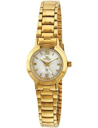 Maxima Formal Gold Analog Mother Of Pearl Dial Women's Watch - 17333CMLY