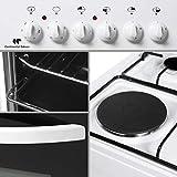 Continental edison cefm5060sc2 cuisiniere Table Mixte gaz/Electrique-4 foyers- Four électrique-Net. Manuel-50l-a-l50 x h86c.