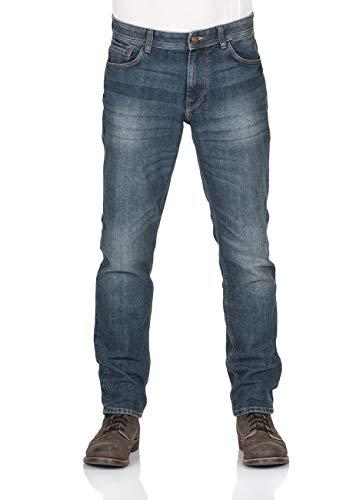 TOM TAILOR Herren Jeans Marvin - Straight Fit - Blau - Mid Stone Wash Denim, Größe:W 34 L 32, Farbe:Mid Stone Wash (10281)