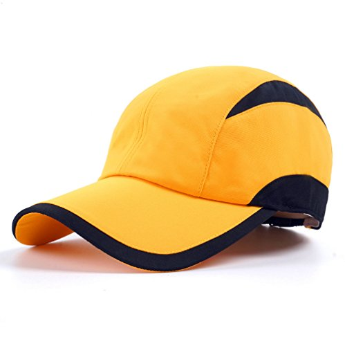 Yellow Black Sporting of Baseball Cap,Quick Dry Runn Hat Cooling Mesh Breathable Lightweight Baseball Cap Ventilation Sport Caps for Unisex Fashion Men and Woman Outdoor Clothes Under 10 20 Cycling Hats NZ61