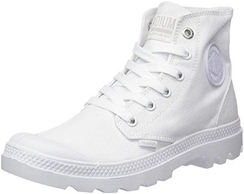 Palladium Pampa Hi Mono Chrome, Sneaker a Collo Alto Donna Bianco (White 420)