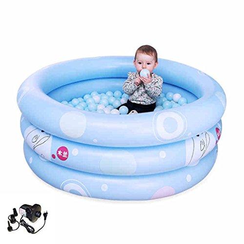 Kind Aufblasbare Schwimmbad Baby Bad Flaschen Blau (Farbe : Electric Pump, größe : 125cm)