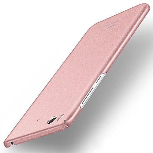 Xiaomi Mi 5s Hülle, MSVII® PC Kunststoff Härte Hülle Schutzhülle Case Und Displayschutzfolie für Xiaomi Mi 5s - Grau JY30079 Rose Gold