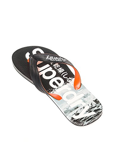 Tongs Superdry Aop Flip Flop Mono Wave Bleu