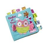 TrifyCore Bambino Libri di Panno Molle Non tossico Tessuto Primi Formazione Gioca attività Piega Libro di Panno per Il Bambino Neonati e Bambini 1pc Owl