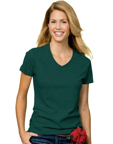 DelifhtedHanes Women's Relax Fit Jersey V-Neck