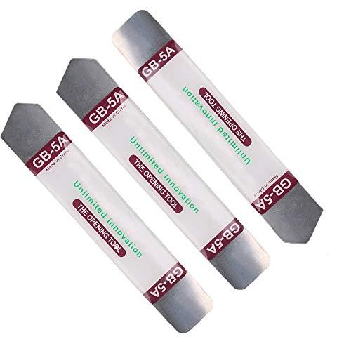 Bigdispawl 3 Stück Metall flache weiche Klinge Brechstange Open Repair Tool Kit für Handy Elektronik gebrochen Bildschirm Kleber entfernen -