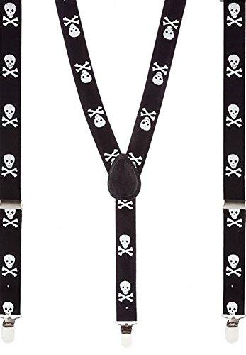 Bretelles Crânes Noirs (Black Skull Braces)