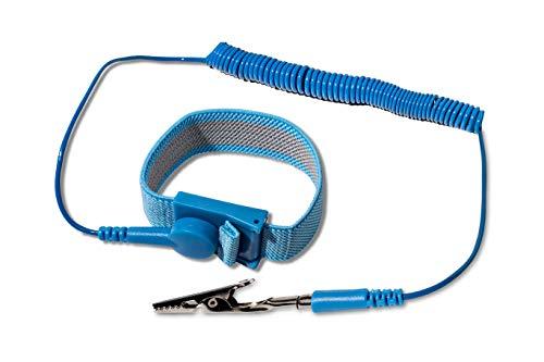 KnnX Verstellbarer antistatischer Handgelenkgurt | Erdungsdraht | Verhindert statische Elektrizität und elektrostatische Entladung ESD | Schützt elektronische Komponenten in PCs, Laptops, Fernsehern