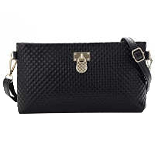 WU Zhi Lady Leder Taschen Messenger Bag Black