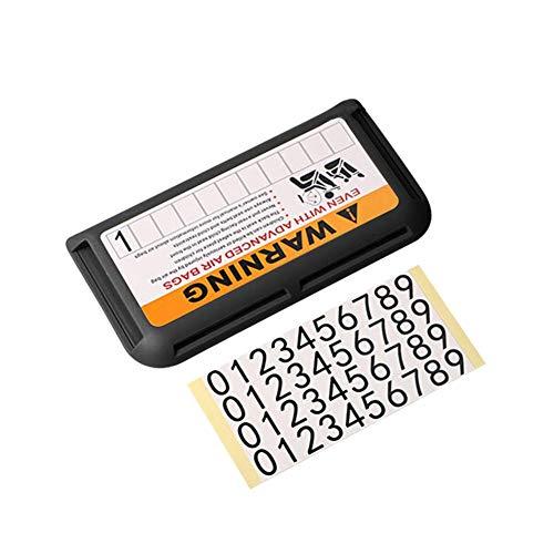 Jannyshop Auto Universal Sonnenblende Visitenkartenhalter Aufbewahrungsbox Spezialisierte Steckkarte Temporäre Parkkarte Organizer Tasche