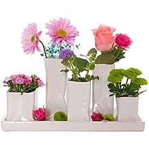 Cerámica Juego de jarrones Jarrón Cerámica Jarrón blanco flores flores plantas Juego de cerámica decorativa Decoración, 1 Set