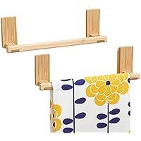 porta asciugamani senza forare muro appendi strofinacci max mDesign AFFIXX appendi strofinacci da cucina in bamb/ù 1,36 kg di portata