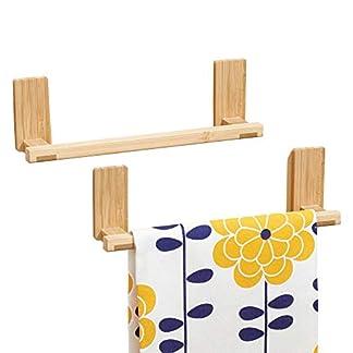 411HKOpR8iL. SS324  - mDesign AFFIXX Toallero de bambú para Colgar en Pared, sin Taladro - Soporte Ideal como Porta Toallas y repasadores - Portatoallas Autoadhesivo - resiste hasta 1,36 kg de Carga - Paquete de 2