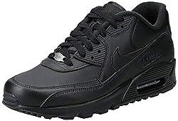 Nike Herren Air Max 90 Leather Gymnastikschuhe - Schwarz (black/black) , 43 EU
