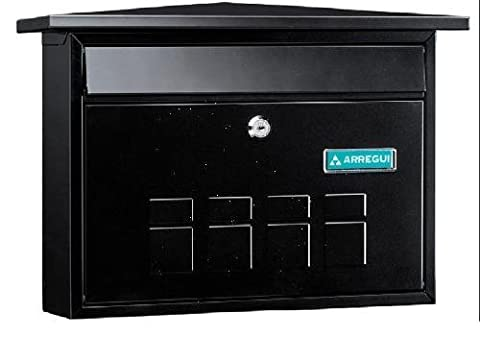 Deco Post Box Wall mounted Outside Steel Letter Mail box Stylish A4 -Magazine size -High qulaity black finishes